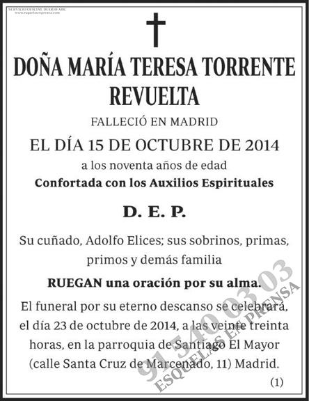 María Teresa Torrente Revuelta